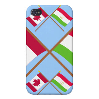 Canada and Tajikistan Crossed Flags iPhone 4 Cases