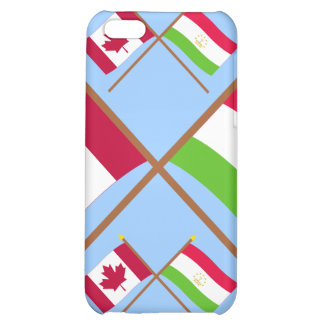 Canada and Tajikistan Crossed Flags iPhone 5C Covers