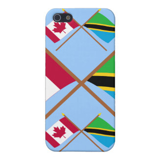 Canada and Tanzania Crossed Flags Covers For iPhone 5