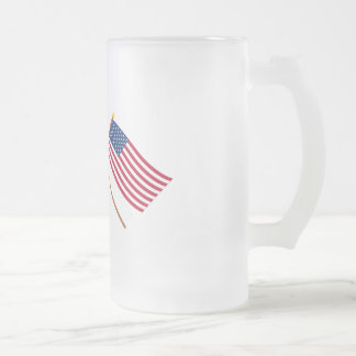 Canada and the United States Crossed Flags Coffee Mugs