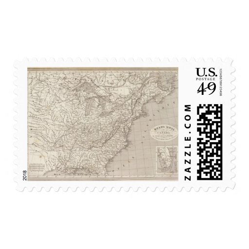 Canada and the United States Postage Stamp