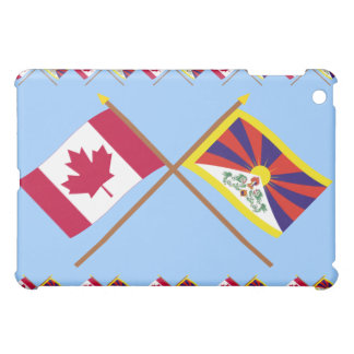Canada and Tibet Crossed Flags iPad Mini Cases