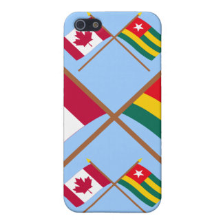 Canada and Togo Crossed Flags iPhone 5 Covers