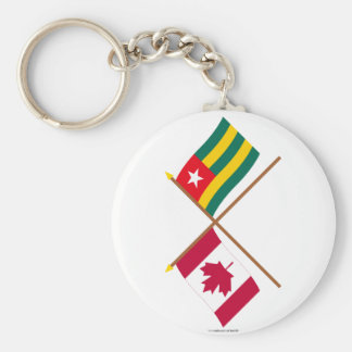 Canada and Togo Crossed Flags Keychains