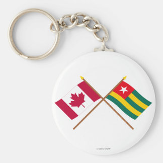 Canada and Togo Crossed Flags Key Chain