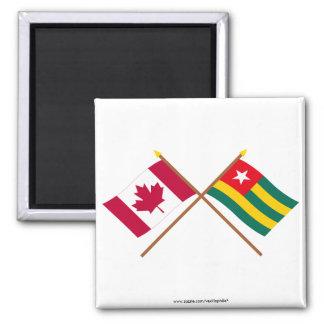 Canada and Togo Crossed Flags Fridge Magnet