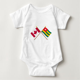 Canada and Togo Crossed Flags T Shirt