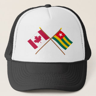 Canada and Togo Crossed Flags Trucker Hat