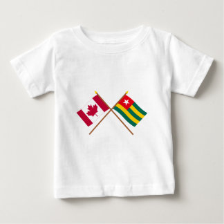 Canada and Togo Crossed Flags Tshirts
