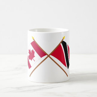 Canada and Trinidad & Tobago Crossed Flags Coffee Mug