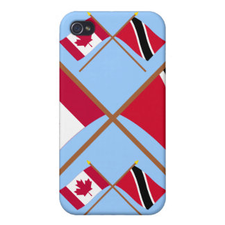 Canada and Trinidad & Tobago Crossed Flags iPhone 4/4S Cases