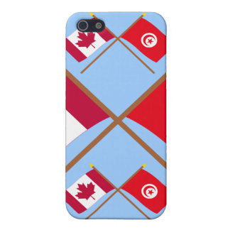 Canada and Tunisia Crossed Flags Covers For iPhone 5