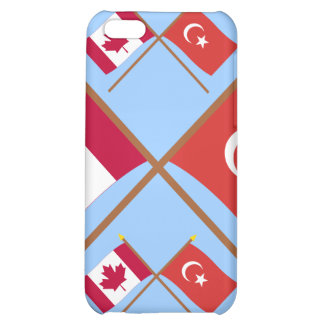 Canada and Turkey Crossed Flags Case For iPhone 5C