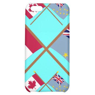 Canada and Tuvalu Crossed Flags iPhone 5C Cases