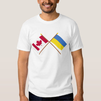 Canada and Ukraine Crossed Flags T-shirt