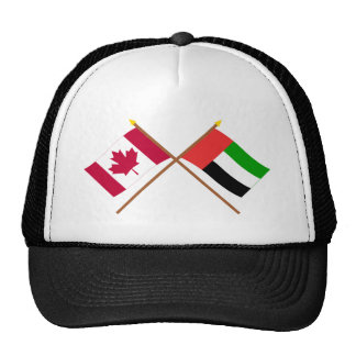 Canada and United Arab Emirates Crossed Flags Mesh Hat