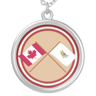 Canada and US Virgin Islands Crossed Flags Jewelry
