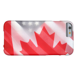 Canada and USA flags Barely There iPhone 6 Case