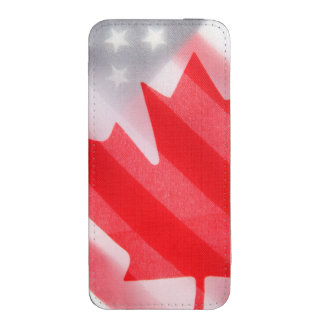 Canada and USA flags iPhone SE/5/5s/5c Pouch
