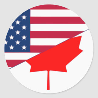 Canada And Usa, hybrids Classic Round Sticker