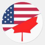 Canada And Usa, hybrids Sticker