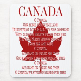 Canada Anthem Mousepad Canada Maple Leaf Mousepad