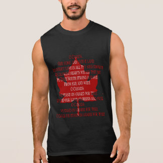 Canada Anthem Sleeveless Tee Souvenir Canada Shirt