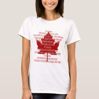 Canada Anthem T-Shirt Gifts Souvenir Canada Shirt