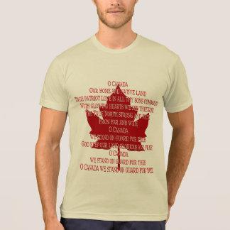 Canada Anthem Value T-shirt Souvenir Canada Shirt