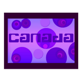 Canadá, arte pop, pica las púrpuras, plantilla de postal