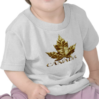 Canada Baby T-Shirt Gold Maple Leaf Baby Shirt