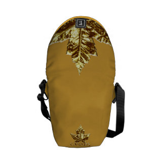 Canada Bags Gold Canada Souvenir Messenger Bag