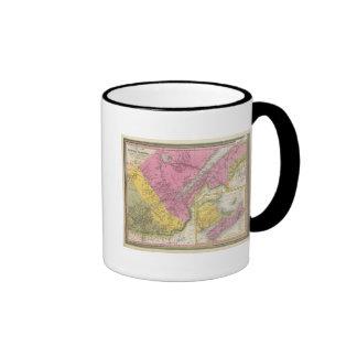 Canadá baja al este antes Canadá Tazas De Café