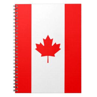 Canadá - bandera canadiense spiral notebook