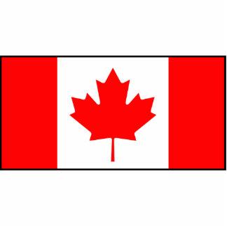 Canadá - bandera canadiense fotoescultura vertical