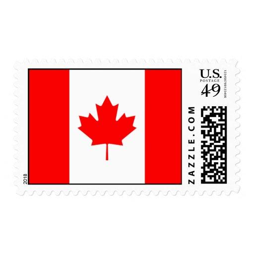 Canadá - bandera canadiense franqueo