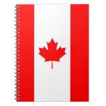 Canadá - bandera canadiense libretas