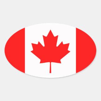 Canadá - bandera canadiense calcomania de óval