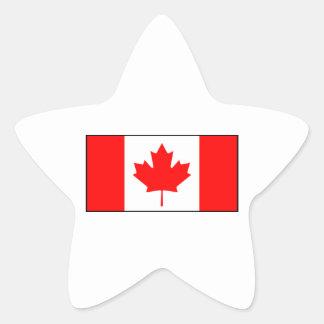 Canadá - bandera canadiense pegatinas forma de estrellaes