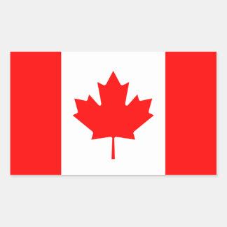 Canadá/bandera canadiense pegatina rectangular