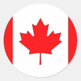 Canadá - bandera canadiense pegatina redonda