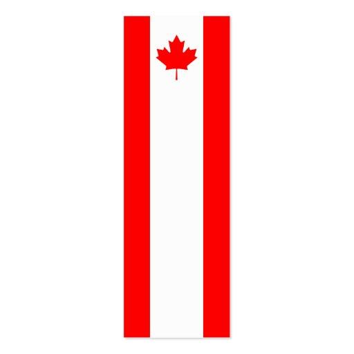 Canadá - bandera canadiense tarjeta de visita