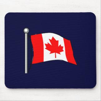 Canadá: Bandera del mousepad de Canadá Tapetes De Raton