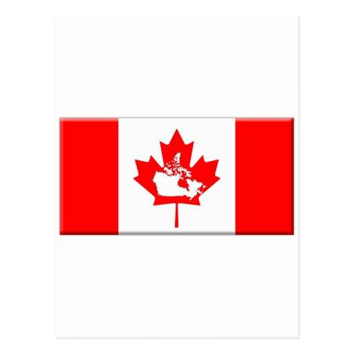 Canadá-bandera-forma-camas Tarjetas Postales