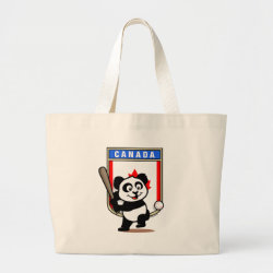 Jumbo Tote Bag with Canada Baseball Panda design