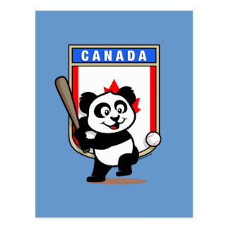 Canada Baseball Panda Postcard