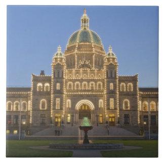 Canada, BC, Victoria, BC Legislature Building at Large Square Tile