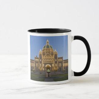 Canada, BC, Victoria, BC Legislature Building at Mug