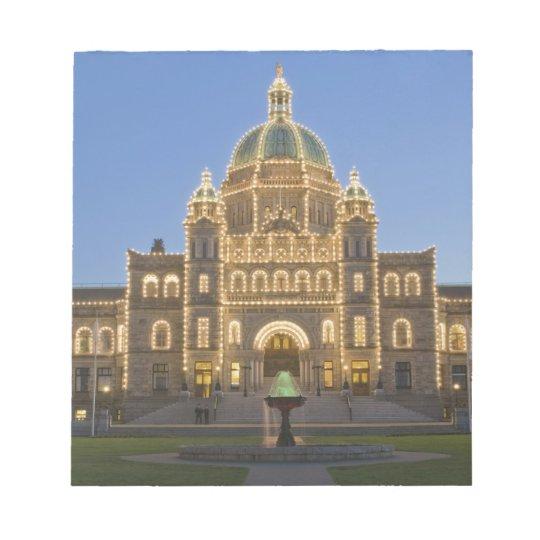 Canada, BC, Victoria, BC Legislature Building at Notepad
