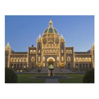 Canada, BC, Victoria, BC Legislature Building at Postcard